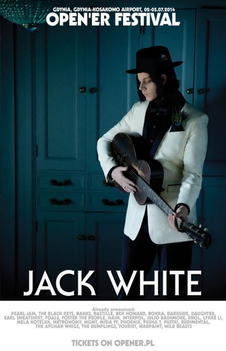 Jack White Show Announced For Open'er 2014